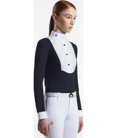 Cavalleria Toscana Meisjes Wedstrijdshirt W/Bib