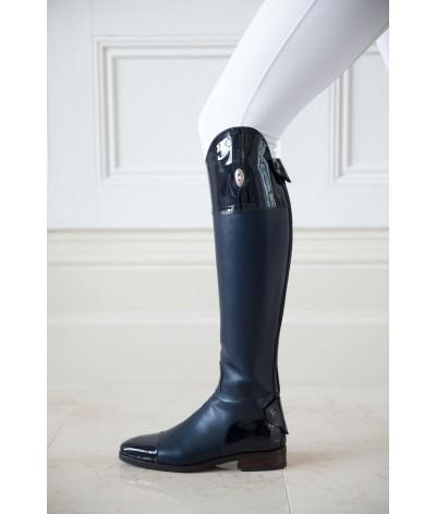 Secchiari Riding Boots Blue and Patent