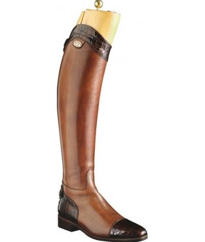 Secchiari Riding Boots Brown and Croc Boots