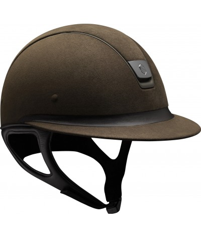 Samshield Helmet Miss Shield Premium Brown + Top Alcantara + Band Leather + Mat Bronze + Black Chroom
