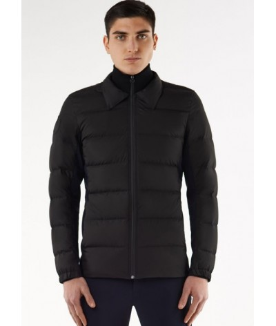 Cavallaria Toscana Quilted Matte Nylon Puffer With Knit Collar