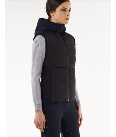 Cavalleria Toscana Quilted Matte Nylon Hooded Pufer Vest