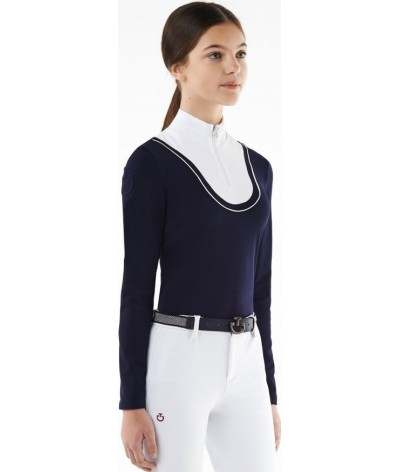 Cavalleria Toscana Retro Ski Jersey Fleece Turtleneck