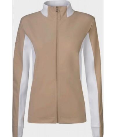 Cavalleria Toscana Jersey Zip Sweatshirt With Pique insert