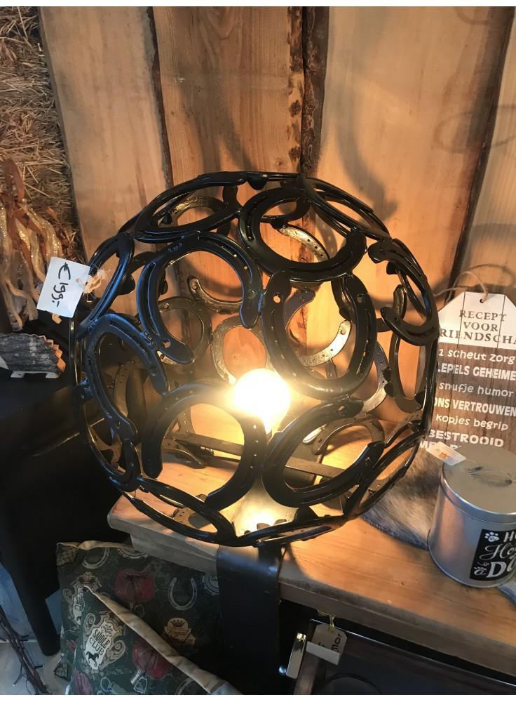 Hoefijzers Vloerlamp Zwart