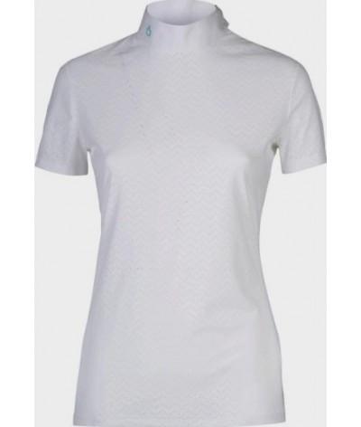 Cavalleria Toscana Vertical Perforated Wedstrijdshirt S/S
