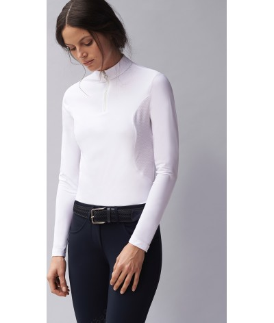 Cavalleria Toscana Perforated Jersey Turtleneck Zip Polo