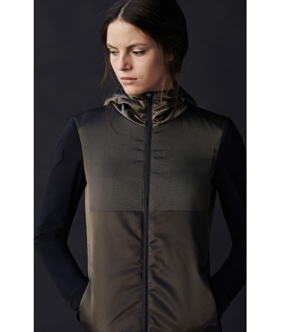 Cavalleria Toscana Nylon jaquard Hooded Windbreaker