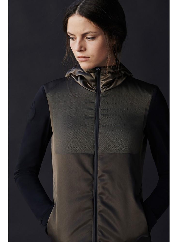Cavalleria Toscana Nylon jaquard Hooded Windbreaker