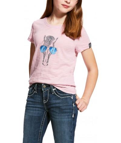 Ariat Meisjes T-shirt Haberdashery Lilac