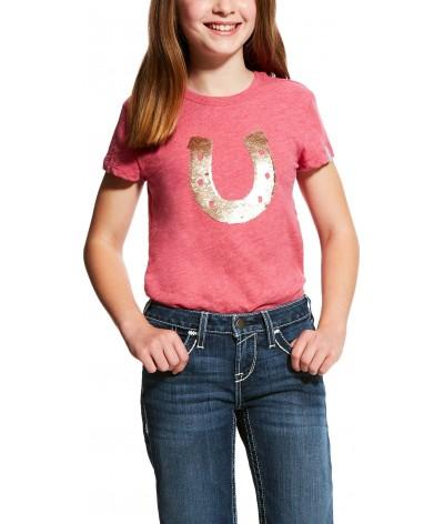 Ariat Meisjes T-shirt pallet Hoefijzer Rose Violet