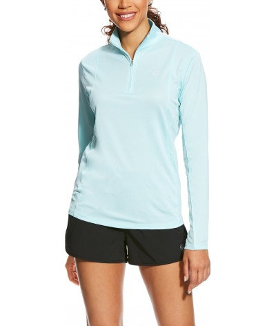 Ariat Sunstopper Shirt 1/4 Zip Sky Drift