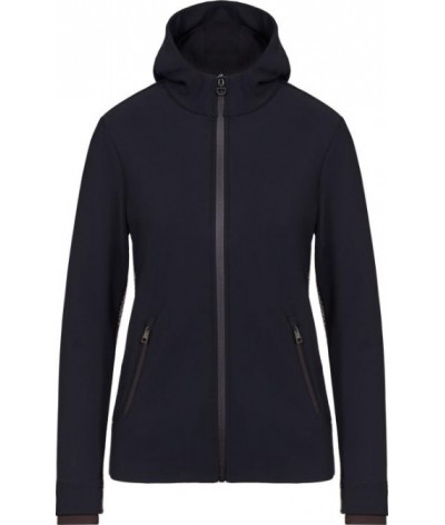 Cavalleria Toscana Jersey And Knit Hooded Zip jacket