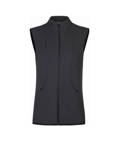 Cavalleria Toscana Women's Jersey Vest W/Knit Jacquard Insert