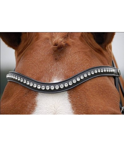 Dyon Browband 'White' Dressage Collection'