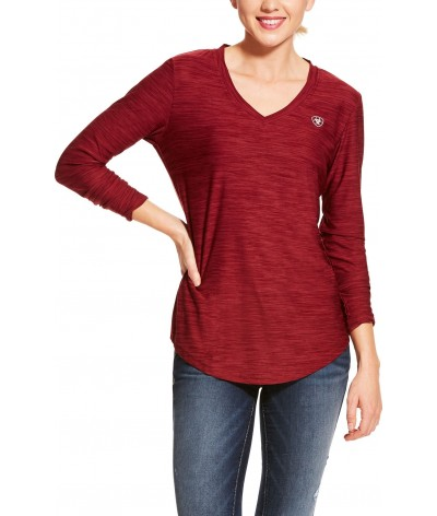 Ariat Women's Laguna LS Top Cabernet