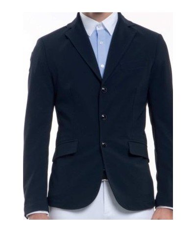 Cavalleria Toscana Mannen Wedstrijdjasje Knit Collar