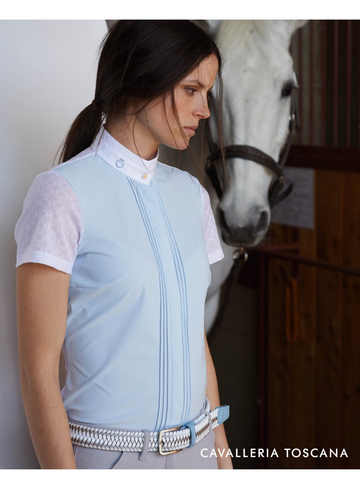 Cavalleria Toscana Transparant Jersey Elegant Competition S/S