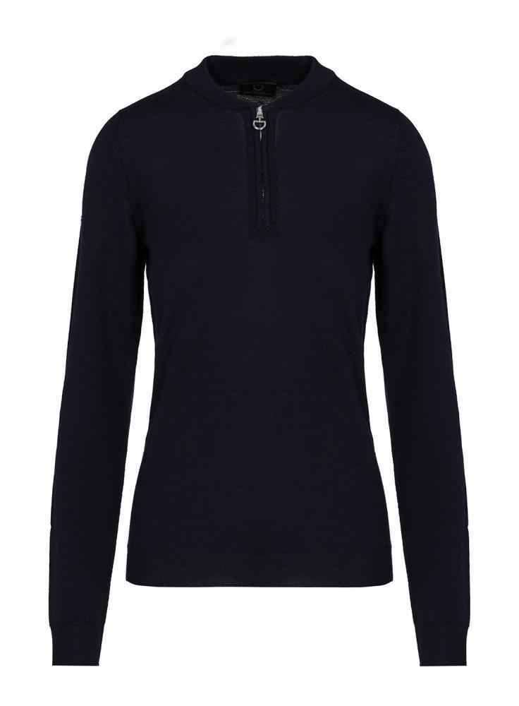Cavalleria Toscana Jacquard CT Half Zip Sweater