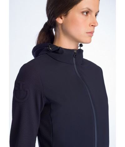Cavalleria Toscana Embossed Jersey Hooded Jacket