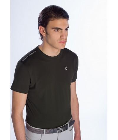 Cavalleria Toscana Tech Piquet T-shirt W/Laser Cut Logo Insert