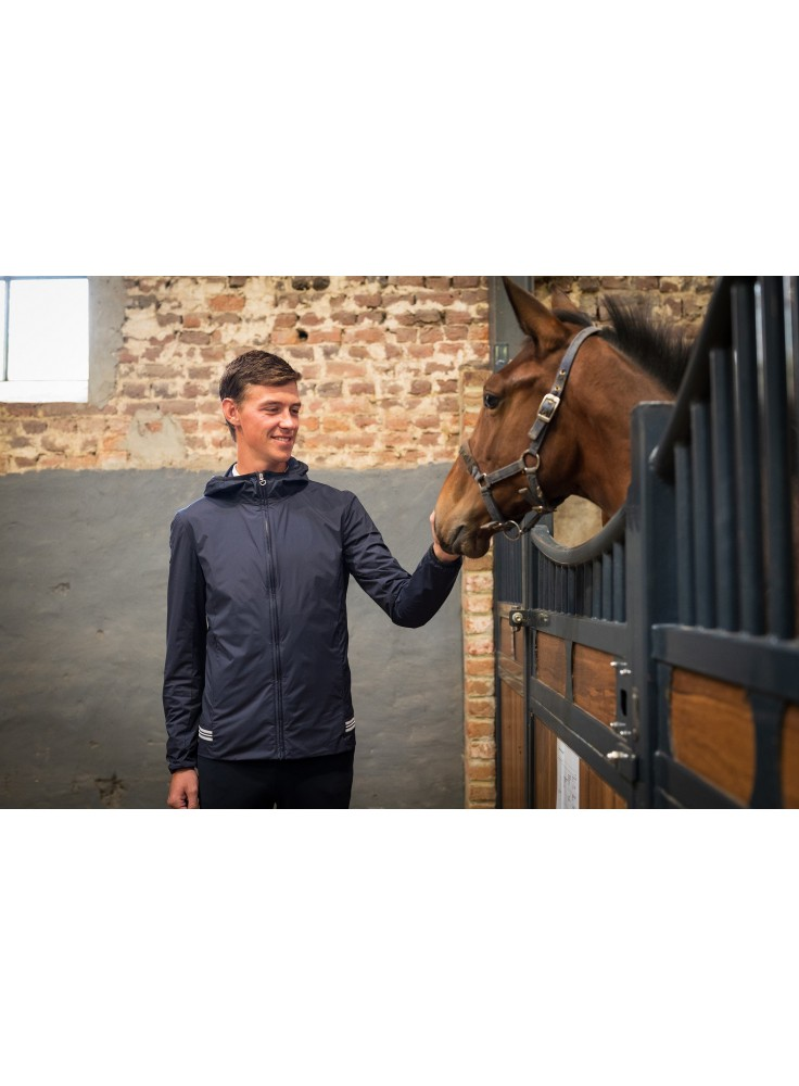 Cavalleria Toscana Nylon Hooded Jacket W/ Rib Knit Insert