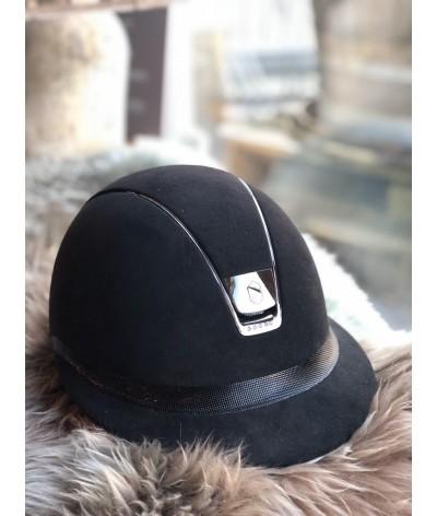 Samshield Helmet Miss Shield Shadowmatt + Top Glossy + Black Chroom/5 Swarovski
