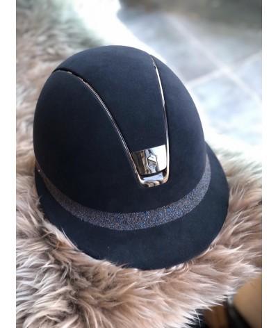 Miss Shield Premium Blauw Met Crystal Fabric Op De Front Band
