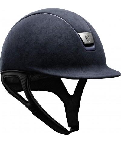 Samshield Cap Premium Blauw + Top Alcantara + Mat Blauw/Crome Zwart