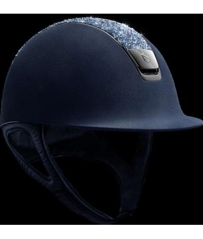 Samshield Cap Blauw + Top Medley Swarovski + Chroom Zwart