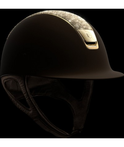 Samshield Helmet Shadowmatt + Top Crystal Fabric Swarovski + Chroom Gold