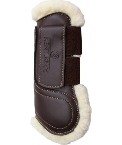 Kentucky Sheepskin Leather Tendon Boots Hook & Loop