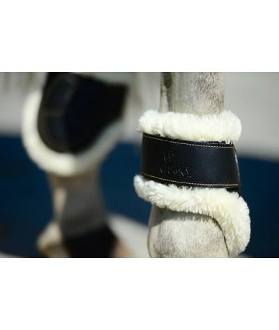 Kentucky Sheepkin Leather Fetlock Boots Velcro
