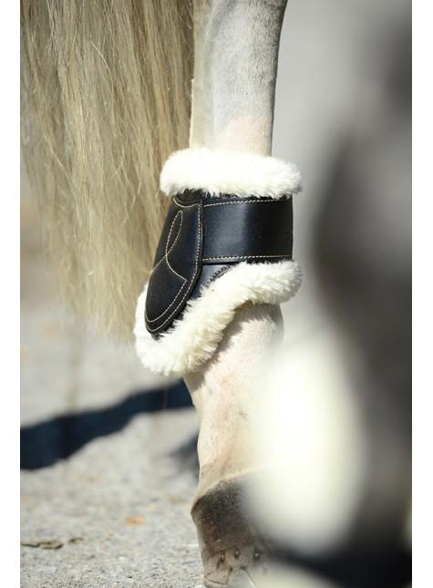 Kentucky Lederen Velcro Kogelbeschermers Bont