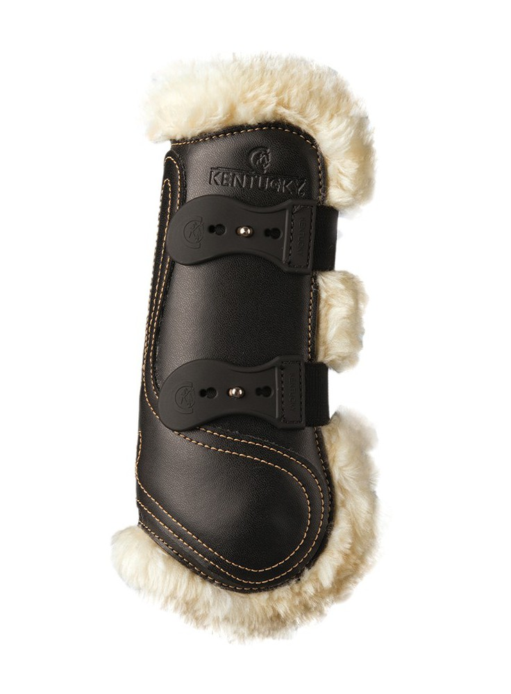 Kentucky Sheepskin Leather Tendon Boots Elastic