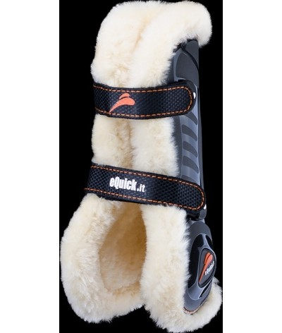 eQuick eShock Front Velcro Tendon Boots Sheepskin