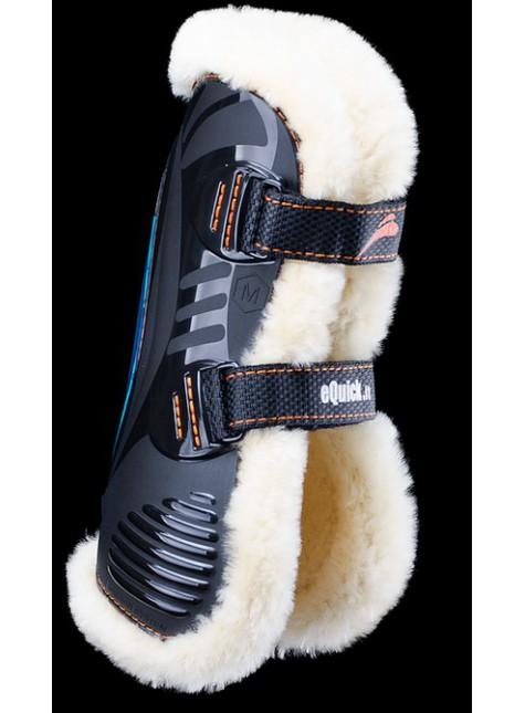 eQuick eShock Front Velcro Tendon Boots Sheepskin