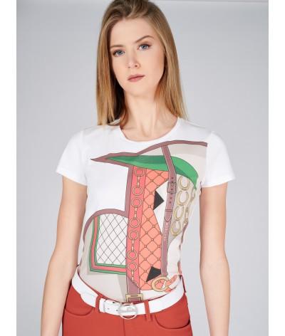 Horka Laguna Womens Graphic Horse Printed T Shirt Tee Ladies Short Sleeve Top
