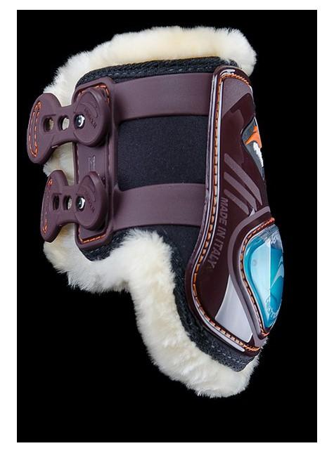 eQuick eShock Rear Fetlock Boots Sheepskin