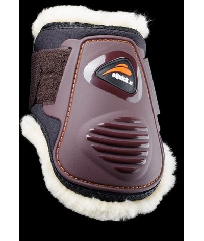 eQuick eLight Rear Fetlock Boots Young Horse Sheepskin