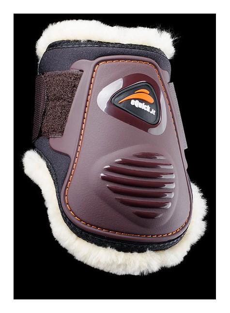 eQuick eLight Rear Fetlock Boots Young Horse Sheepskin