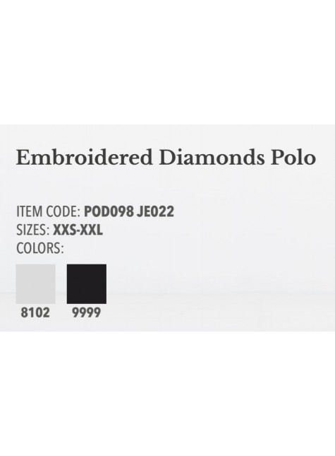 Cavalleria Toscana Embriodered Diamonds Polo