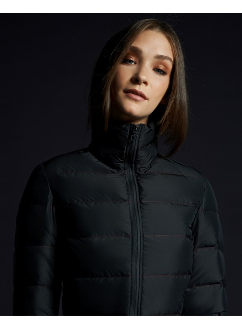 Cavalleria Toscana Contrasting Lines Long Down Jacket