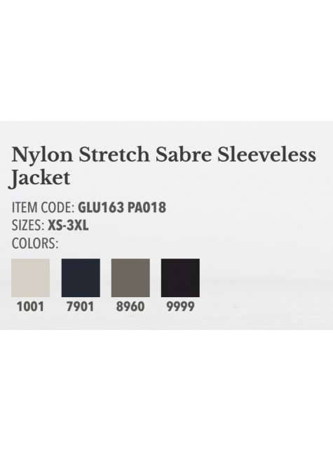 Cavalleria Toscana Nylon Stretch Sabre Sleeveles Jacket