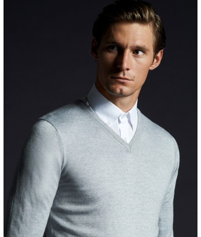 Cavalleria Toscana Tech Wool V-Neck Sweater