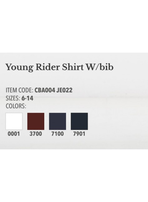 Cavalleria Toscana Young Riders Shirt W/Bib