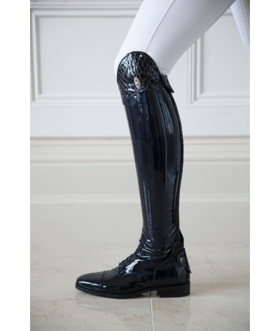 Secchiari Riding Boots Navy Patent 100