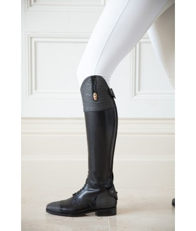 Secchiari Riding Boots Grey Snakeskin
