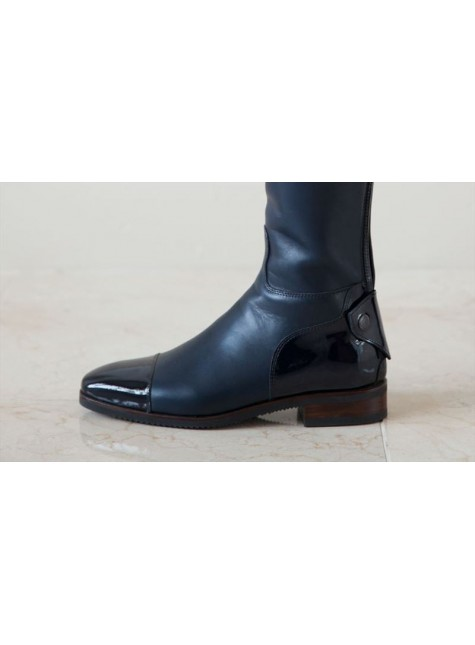 Secchiari Riding Boots Blue and Patent