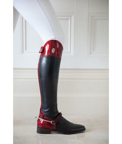 Secchiari Riding Boots Red Saffiano